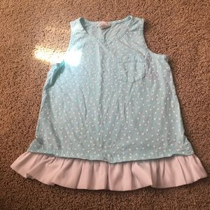 Girls Crewcuts 10 tank with heart print
